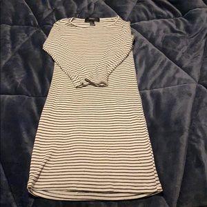 Forever 21 Striped Half-Sleeve Dress